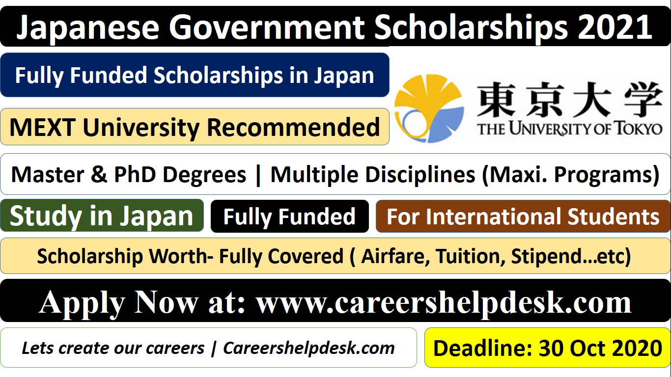 The UTokyo-Japanese Government (MEXT) Scholarship in Japan ...