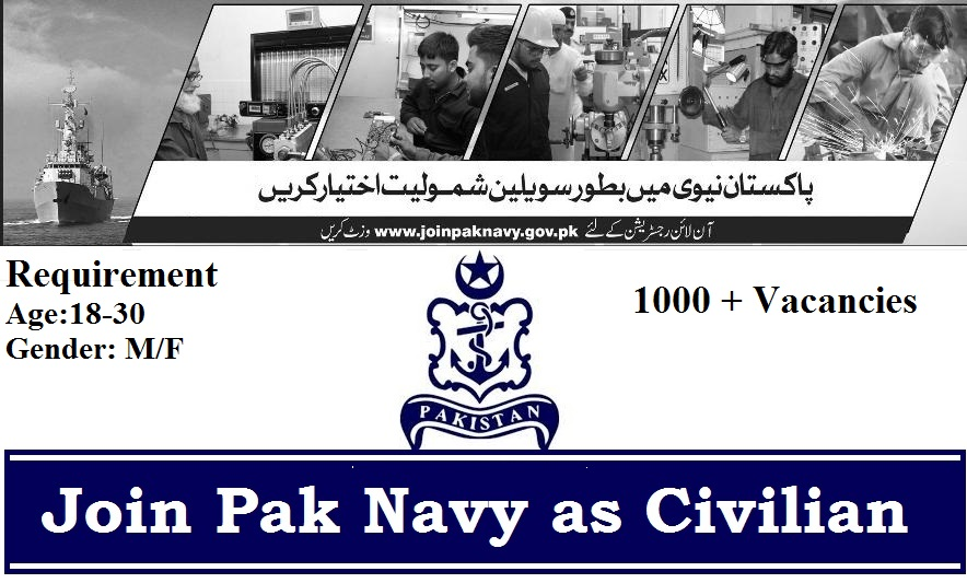 Join Pak Navy Pakistan Navy Civilian Jobs 2019 Batch 2020-A -