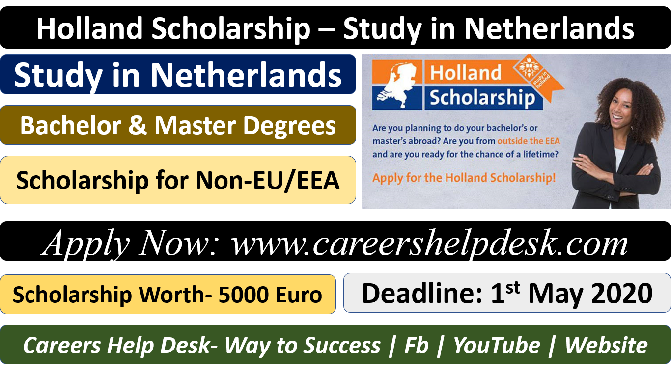 Holland Scholarship 2020-2021-Study In Netherlands