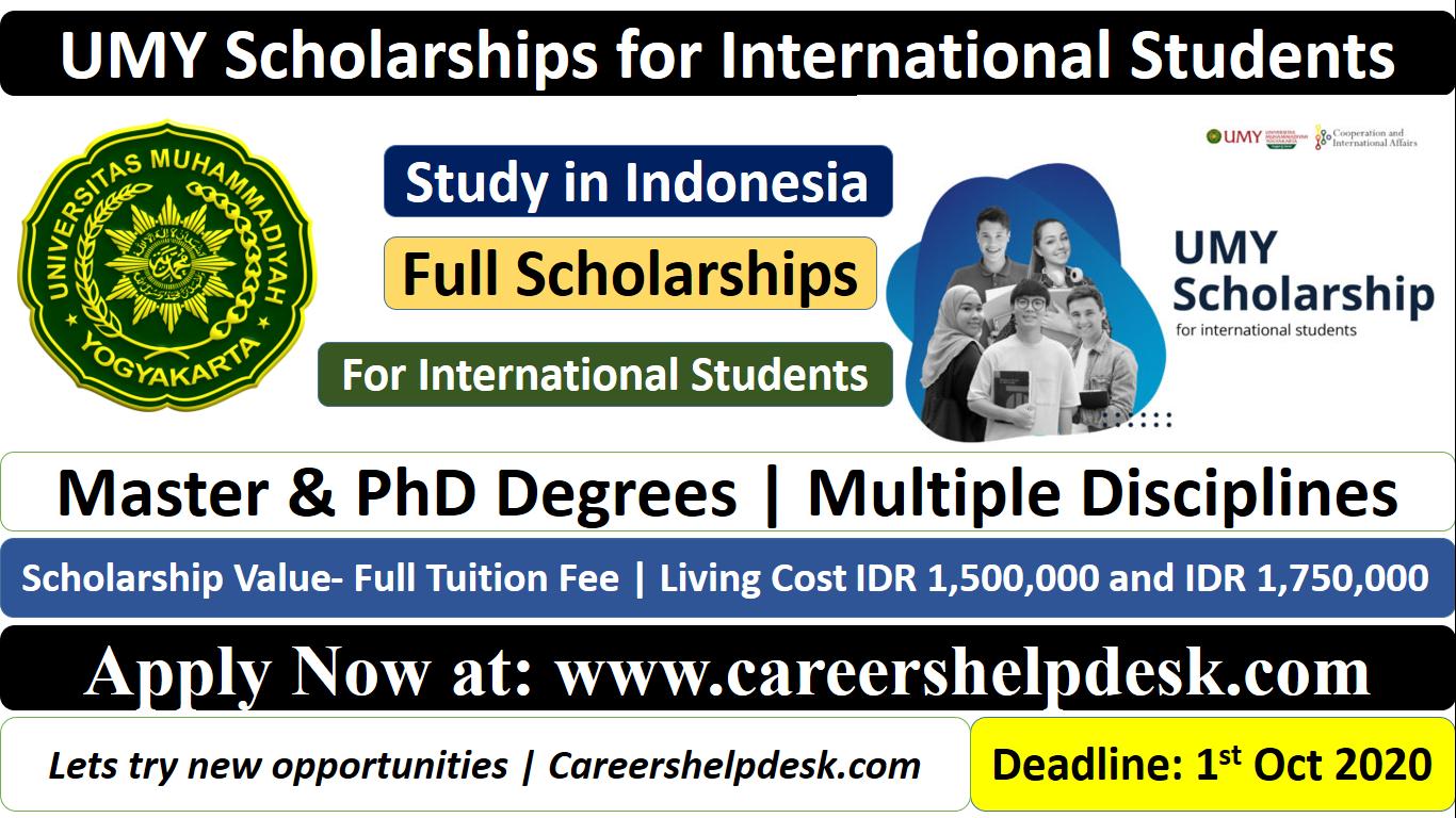 UMY Scholarships for International Students 2021