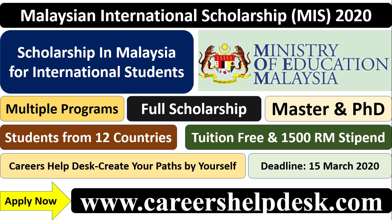 Malaysian International Scholarship Mis 2020