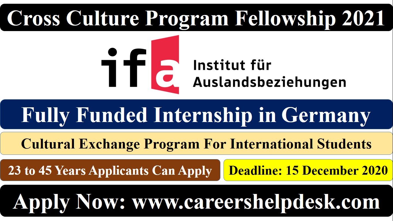 CrossCultute Program Fellowship 2021 in Germany