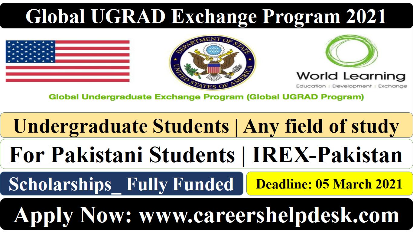 Global UGRAD for Pakistani students 2021