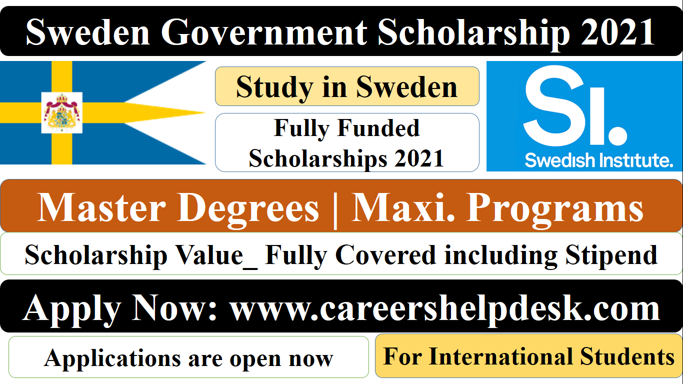 Swedish Government Scholarship 2021