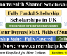 Commonwealth Shared Scholarship 2021 | Fully Funded