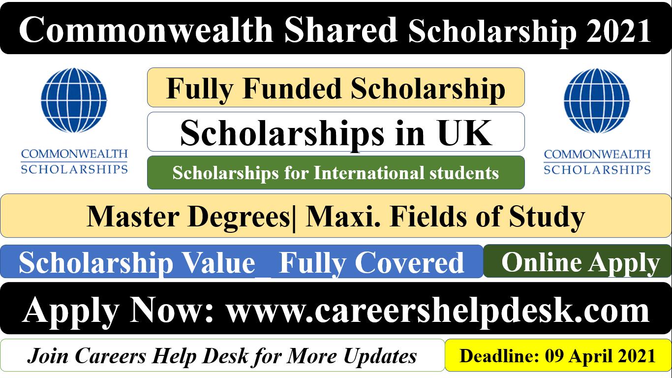 Commonwealth Shared Scholarship 2021