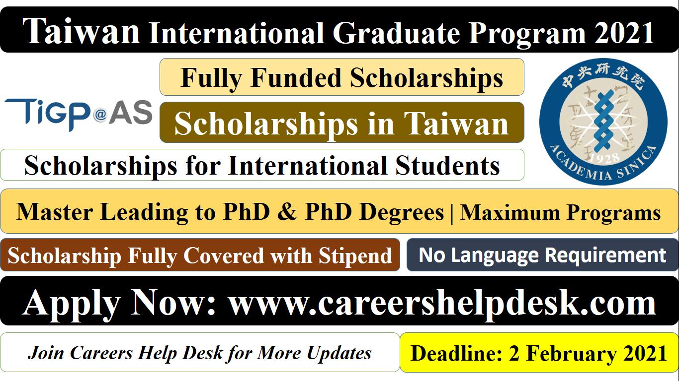 Taiwan Internatonal Graduate Program 2021