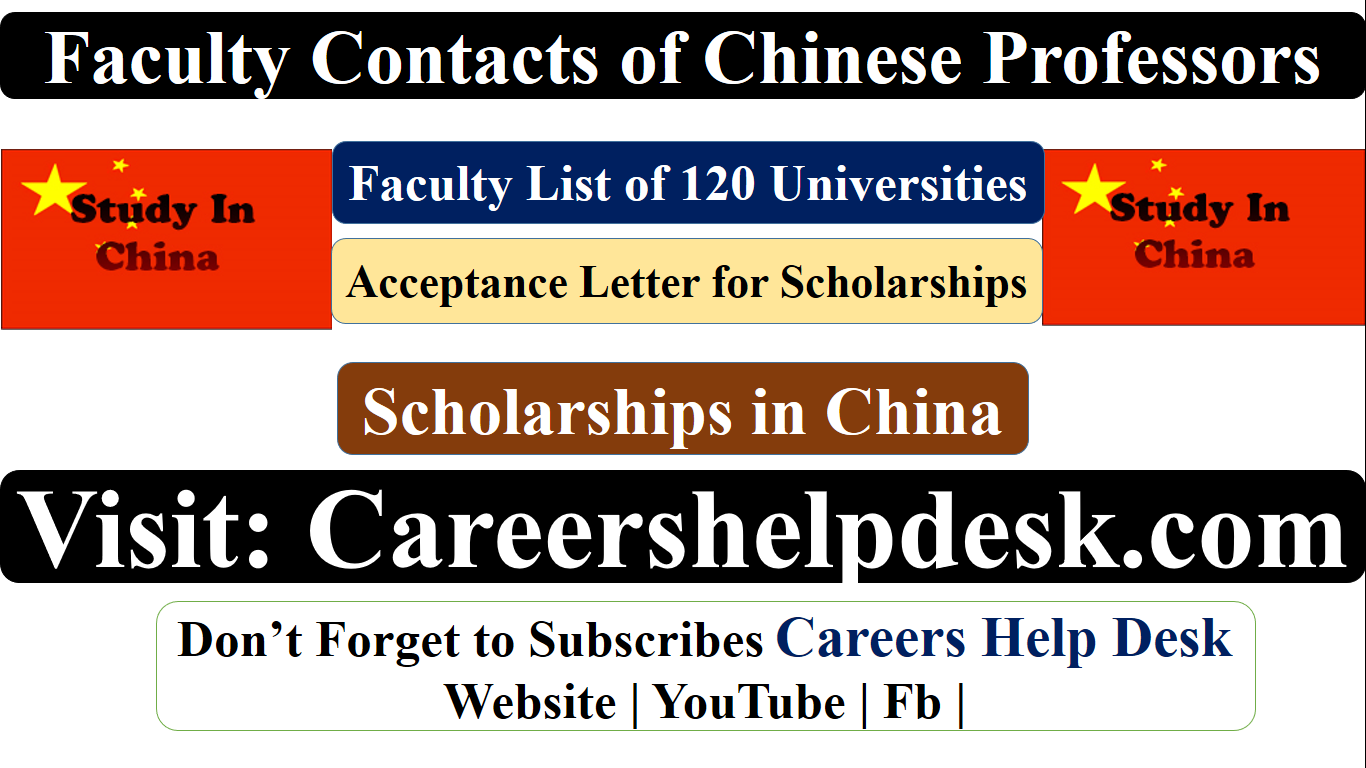 Faculty List of Chinese` Professors