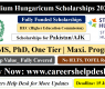 Stipendium Hungaricum Scholarship 2021 For Pakistani Students
