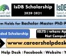 Islamic Development Bank (IsDB) Scholarship Program 2020