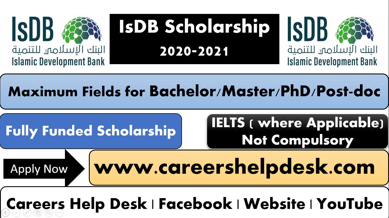 IsDB Scholarship program 2020-2021