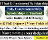 Scholarships in Asian Institute of Technology (AIT)  2021 Thailand-Fully Scholarship