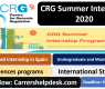 CRG Summer Internship 2020 in Spain-Fully Funded