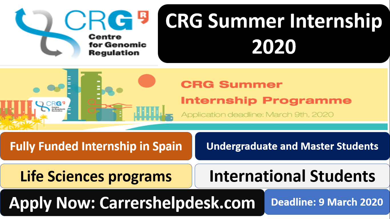 CRG Summer Internship 2020