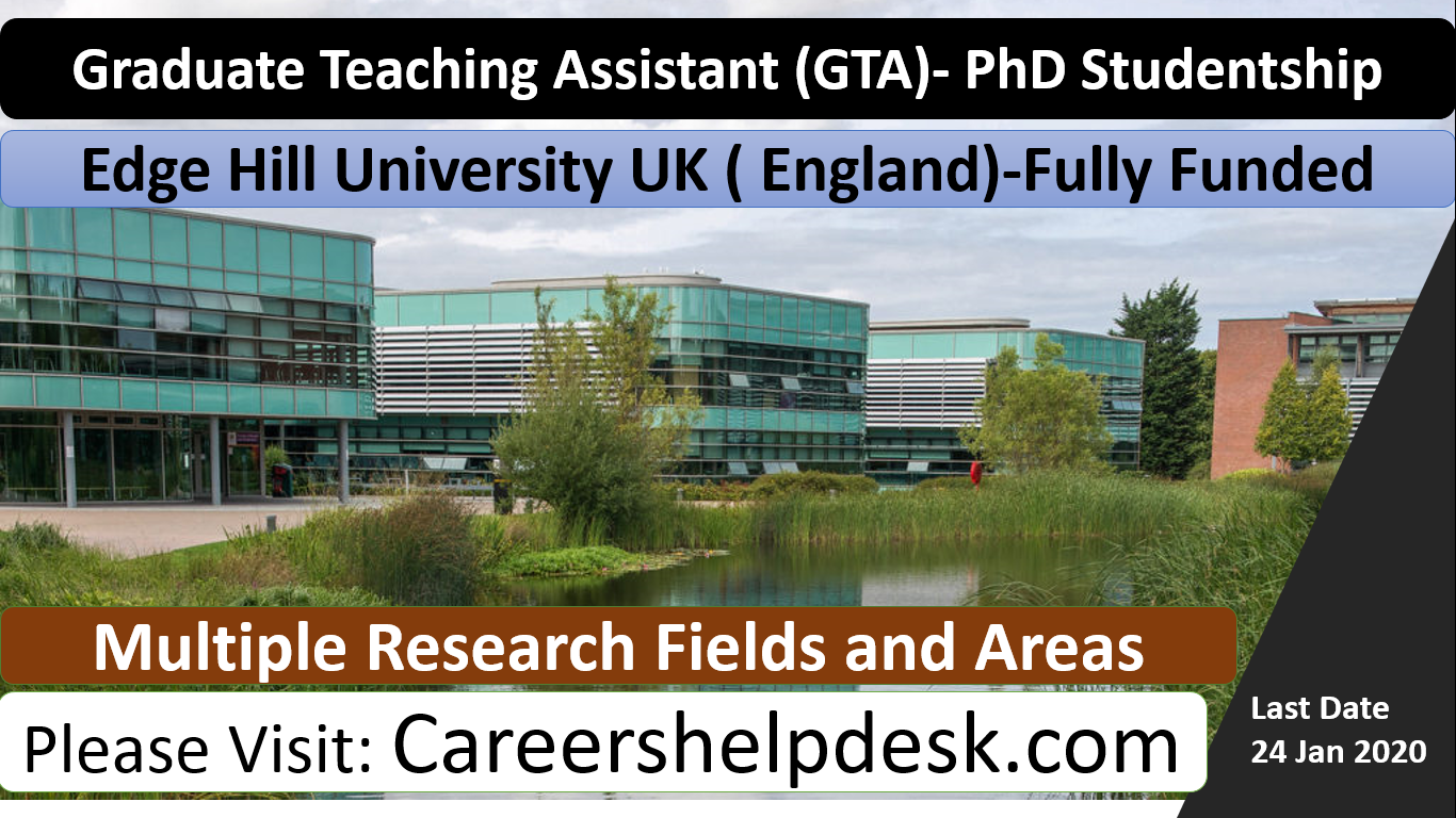 Graduate Research Assistant -PhD Studentship 2020-Edge Hill University