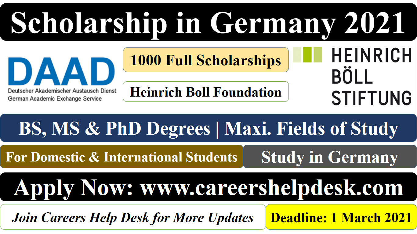 Heinrich Boll Foundation Scholarships in germany 2021