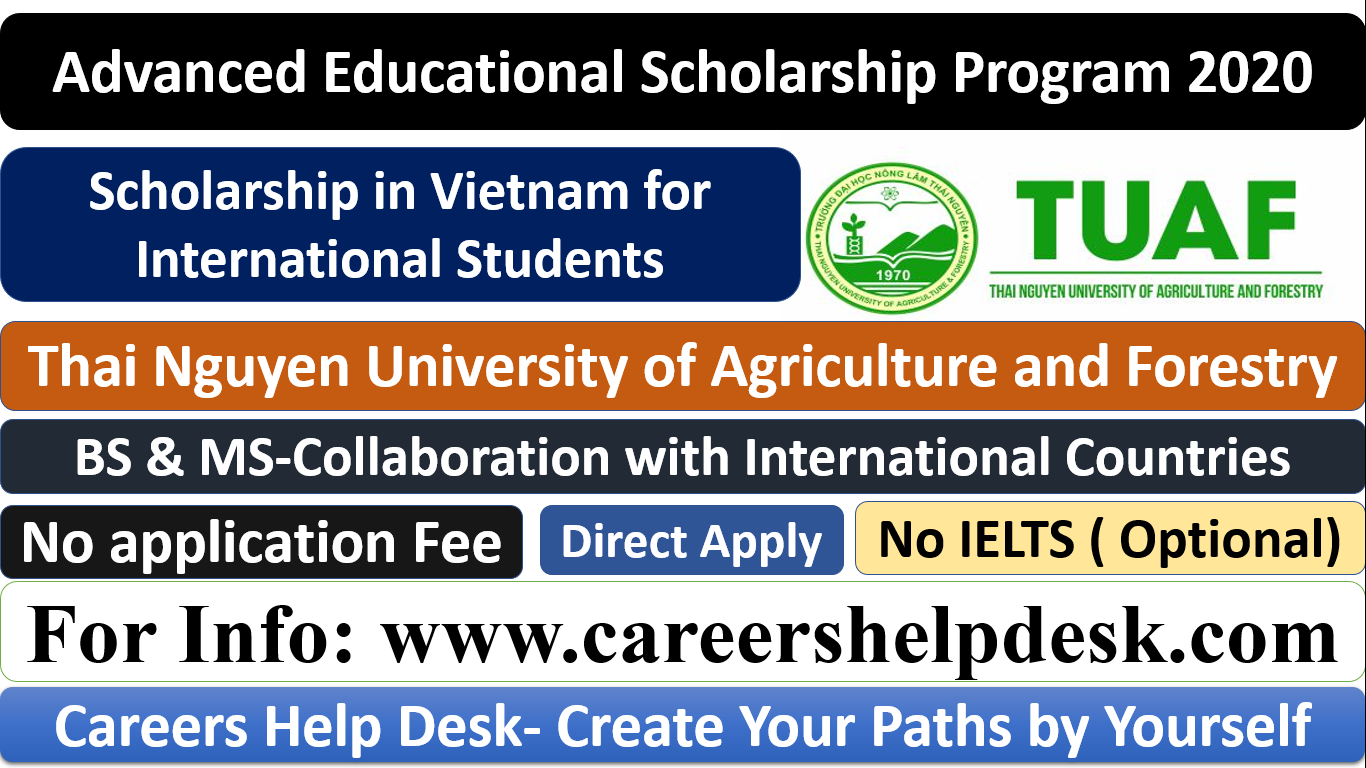 Thai Nguyen University of Agriculture and Forestry Scholarships 2020-2021