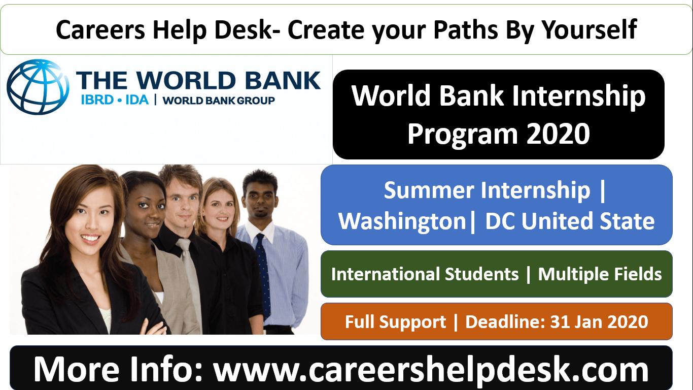World Bank Internship program 2020