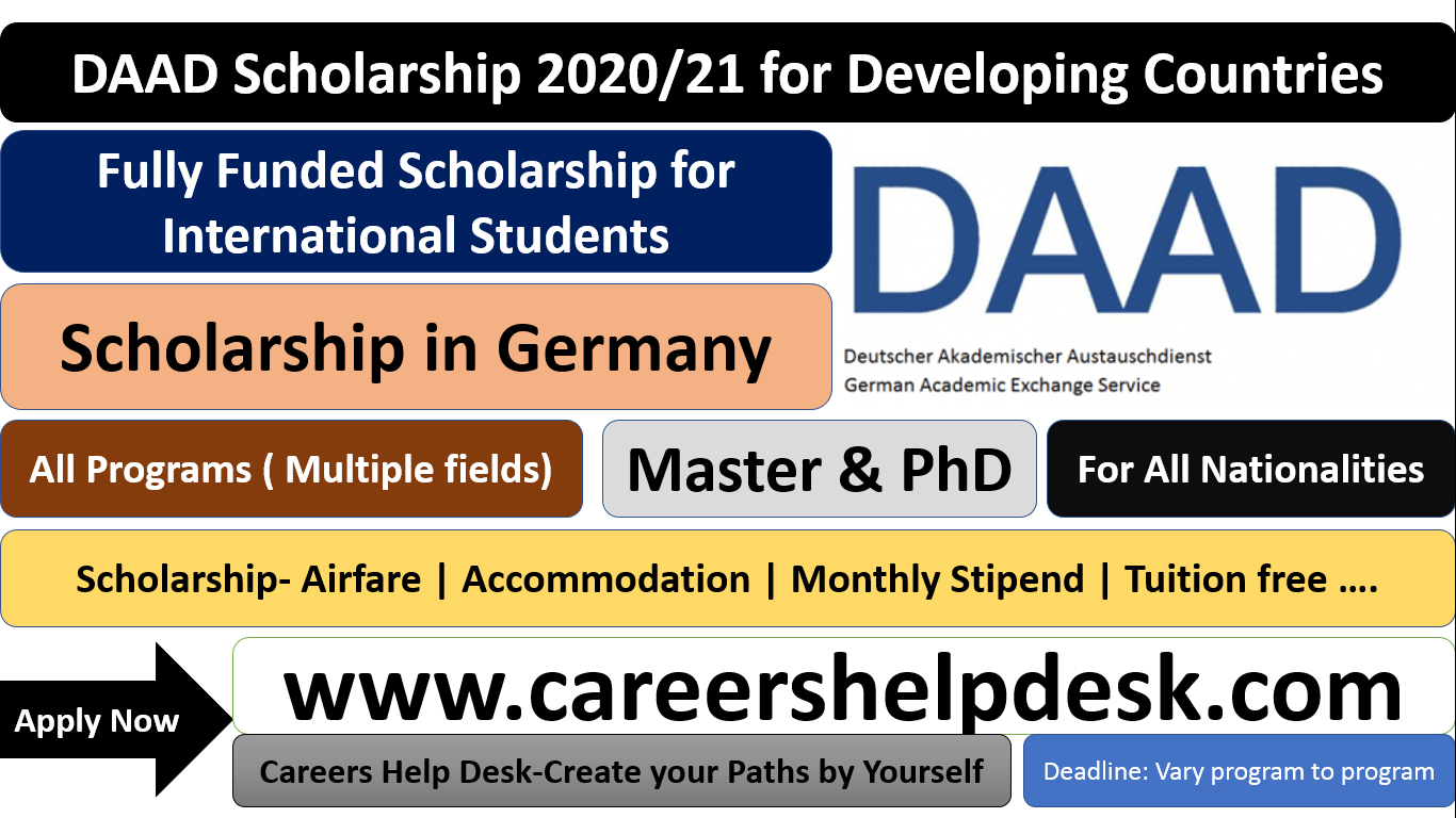 DAAD Scholarship 2020-2021 in Germany (Fully Funded)