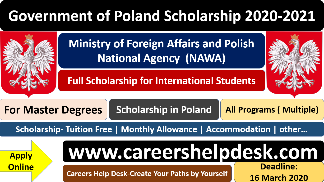 Poland Government Scholarship 2020-2021 For International ...