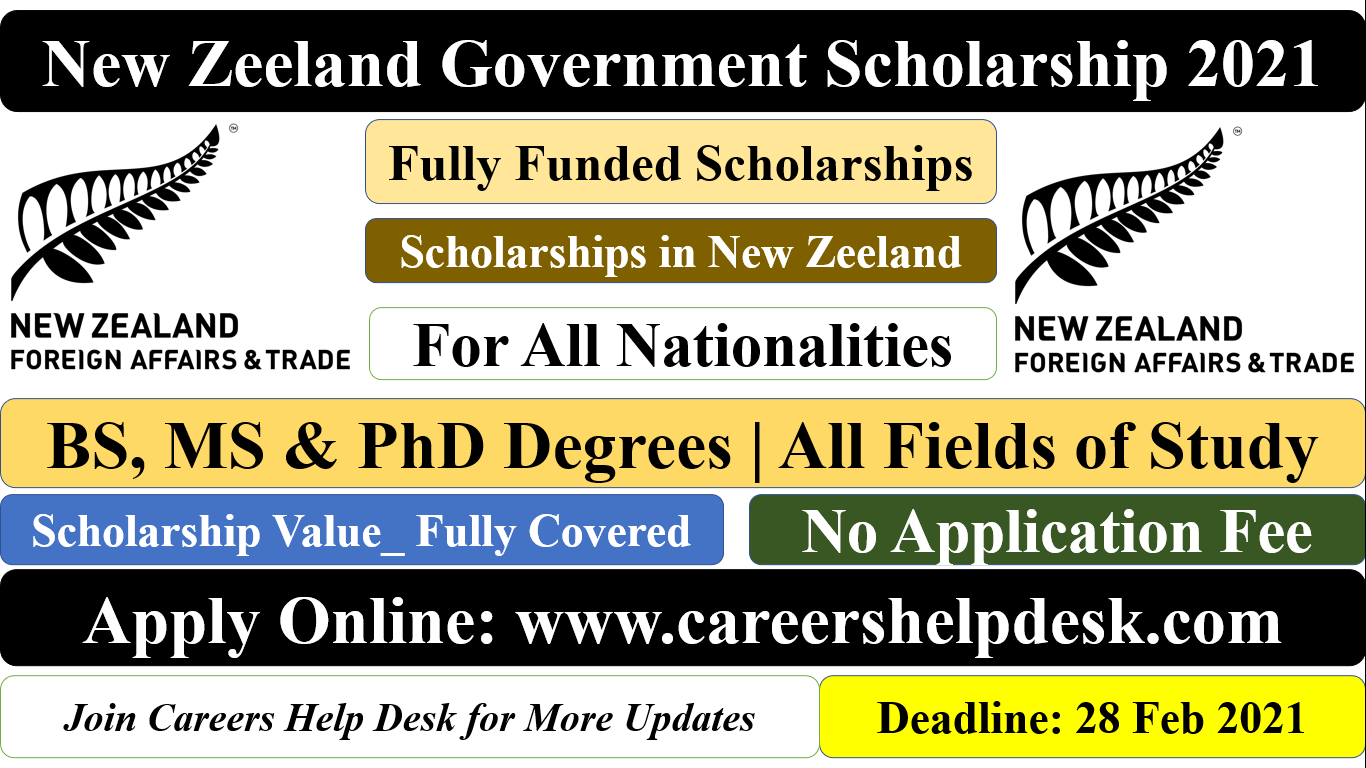 New Zeeland Government Scholarship 2021