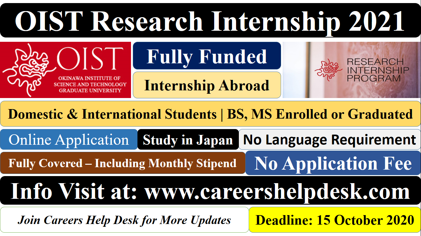 OIST Research Internship in Japan 2021
