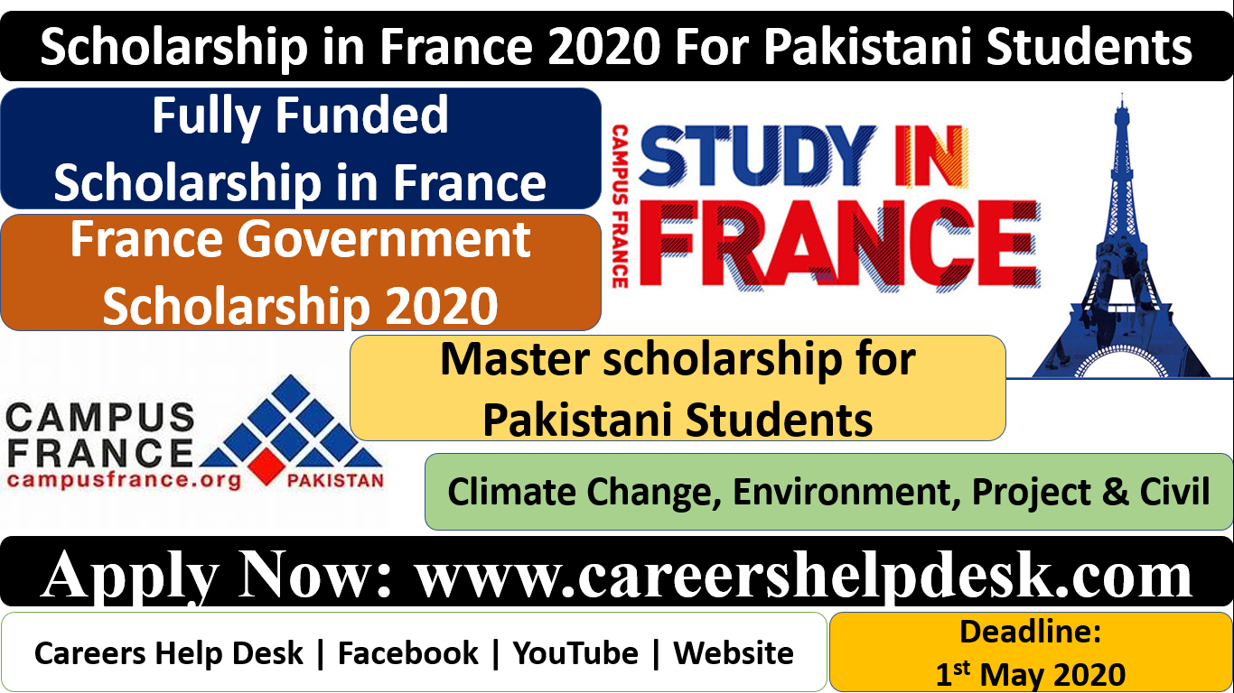 Scholarships in France 2020 for Pakistani Students (Fully Funded)