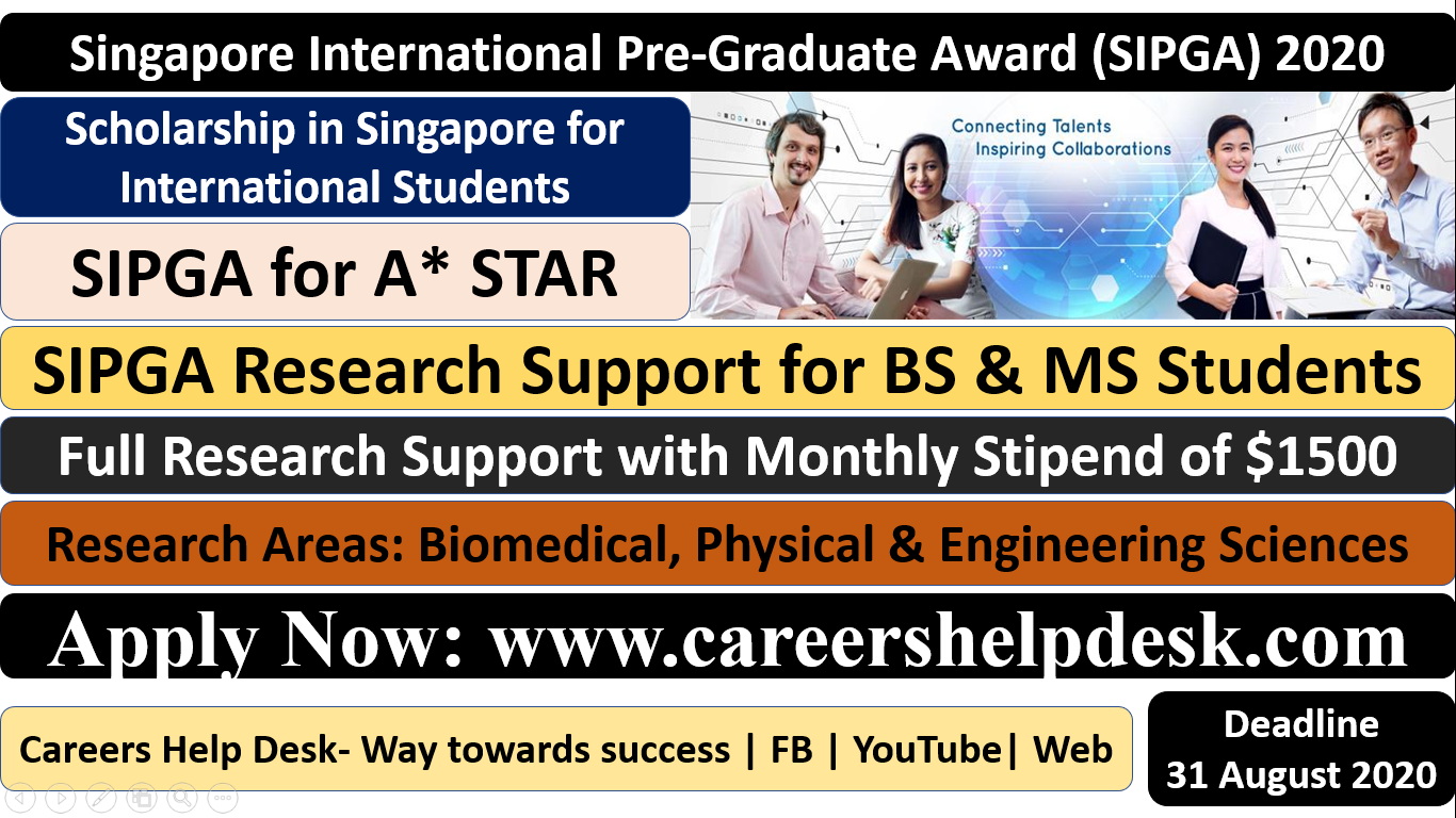 Singapore international pregraduate award for bs and ms 2020