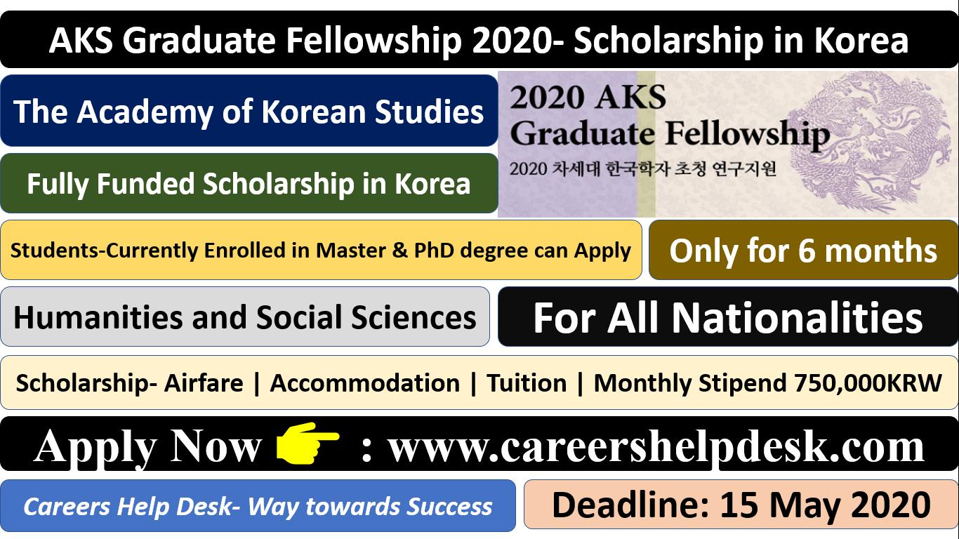 AKS Graduate fellowship 2020