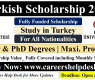 Turkish Scholarship 2021 at Koc University (Fully Funded)