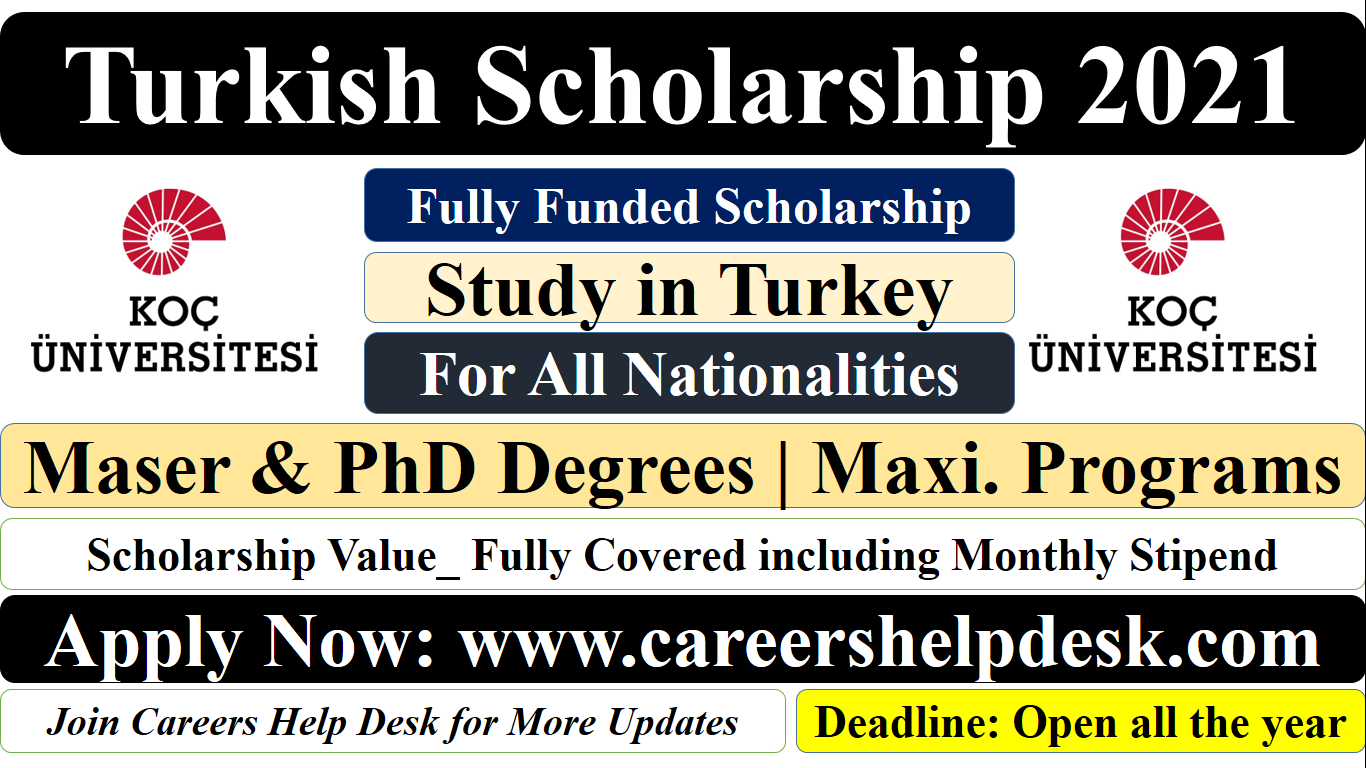 Turkish Scholarship 2021