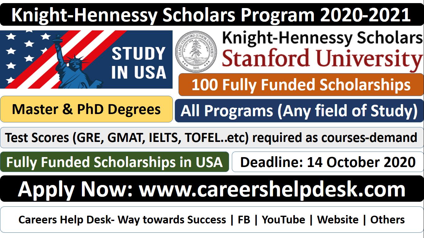 100 Knight-Hennessy Scholars Programs (Fully Funded) | Study in USA