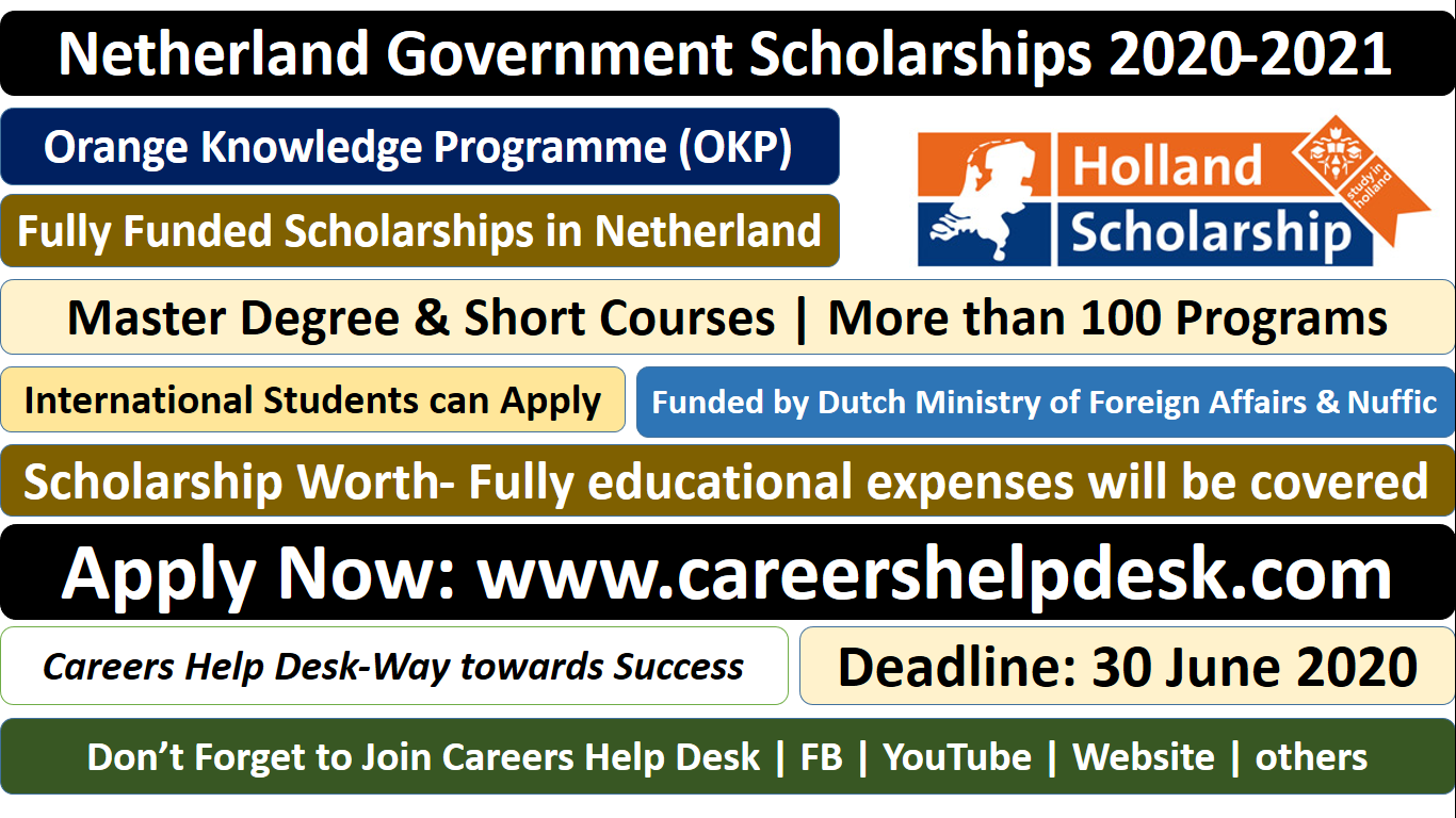 Netherland Government Scholarships 2020-2021 OKP Scholarship