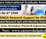 Singapore International Graduate Award (SINGA) 2021-Fully Funded