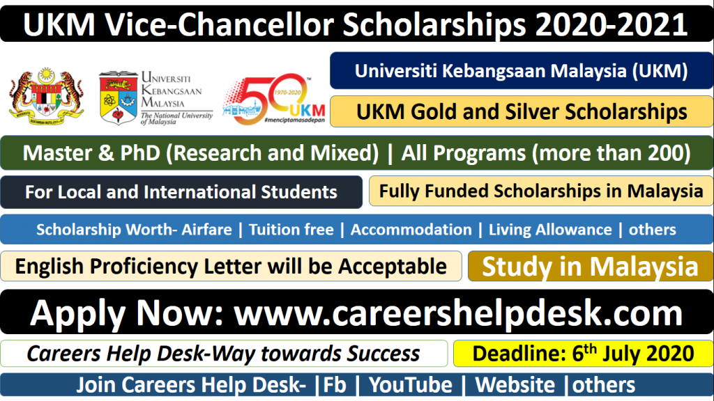 Ukm Vice Chancellor Scholarships 2020 21 Fully Funded Study In Malaysia