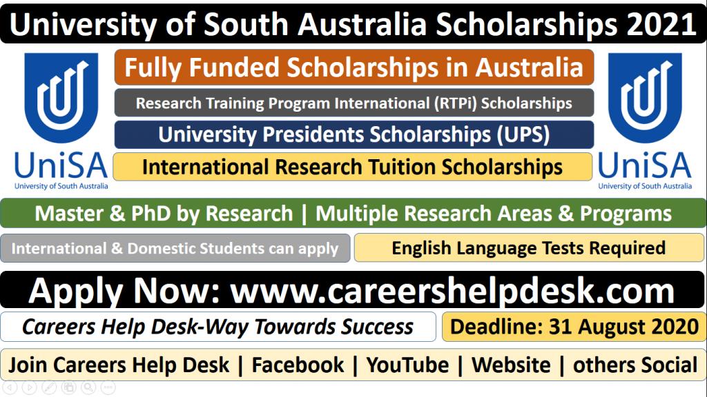 University of South Australia Scholarships 2021 Fully Funded