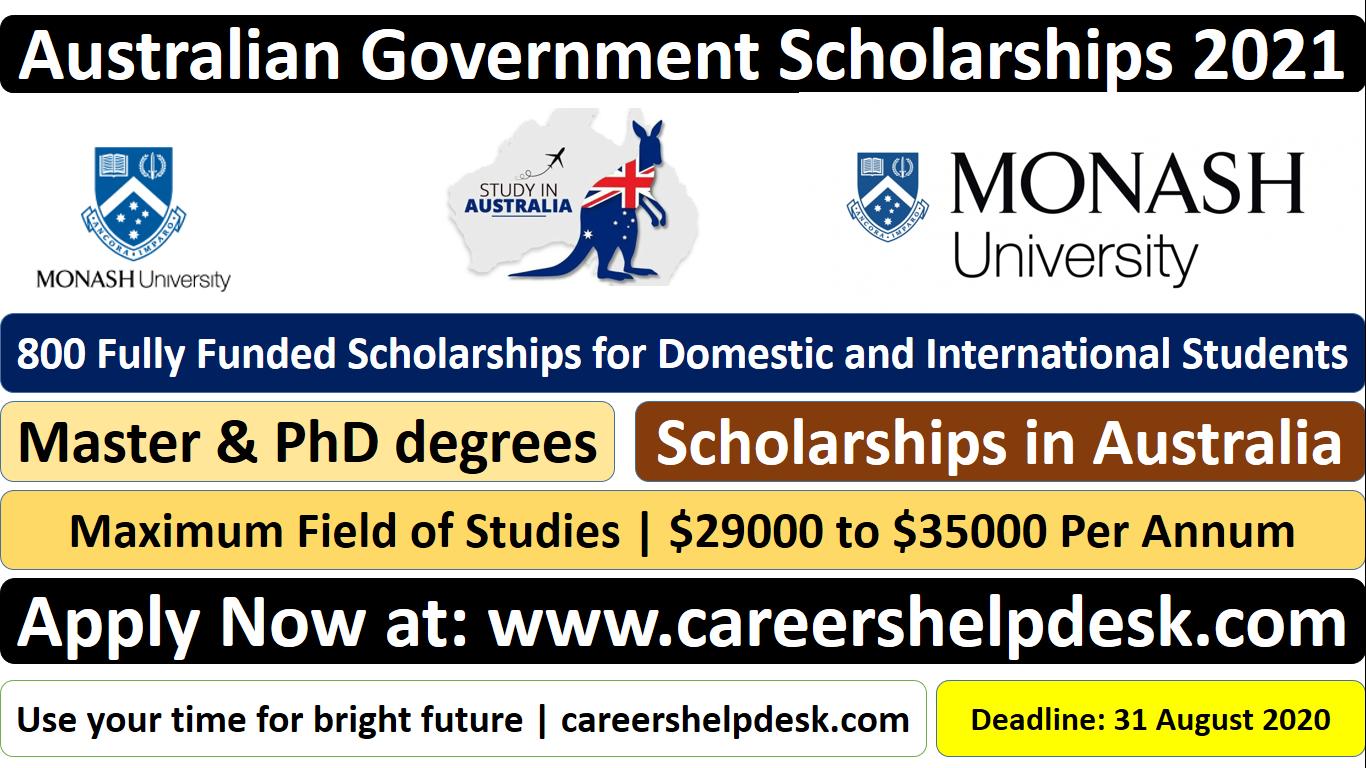 800 Fully Funded Scholarships 2021 at Monash University ...