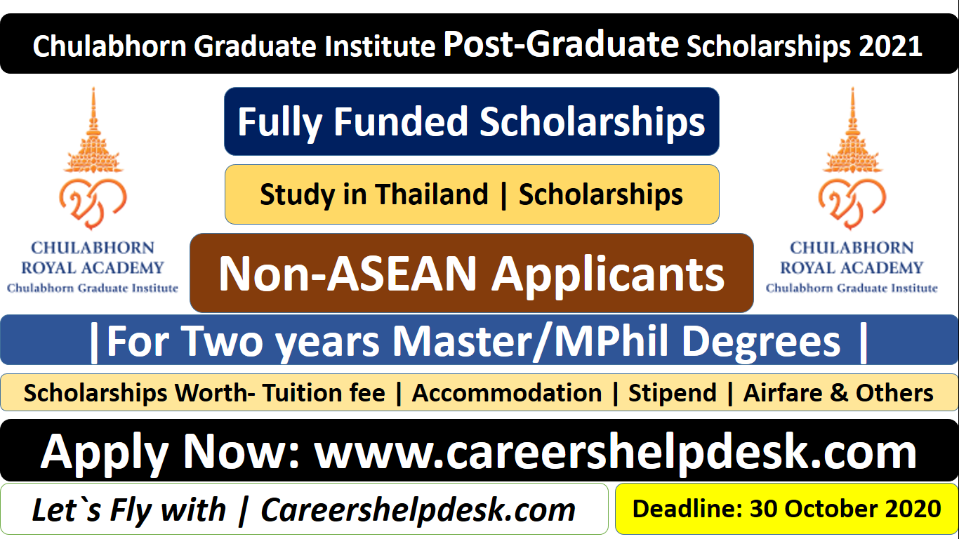 Chulabhorn Graduate Institute Post-Graduate Scholarships ...