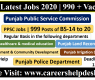 PPSC Jobs 2020 | 990 + Vacancies | PPSC Latest Jobs 2020