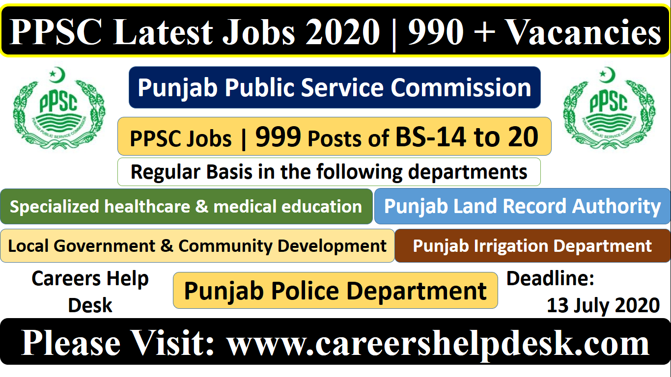 PPSC Latest Jobs 2020- July jobs 2020