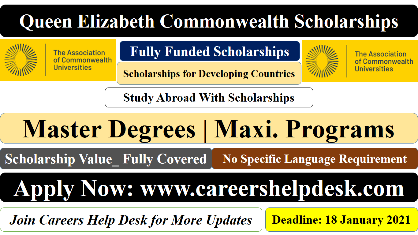 Queen Elizabeth Commonwealth Scholarships 2021