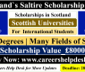 Scotland`s Saltire Scholarship in UK 2021 | Study in the UK