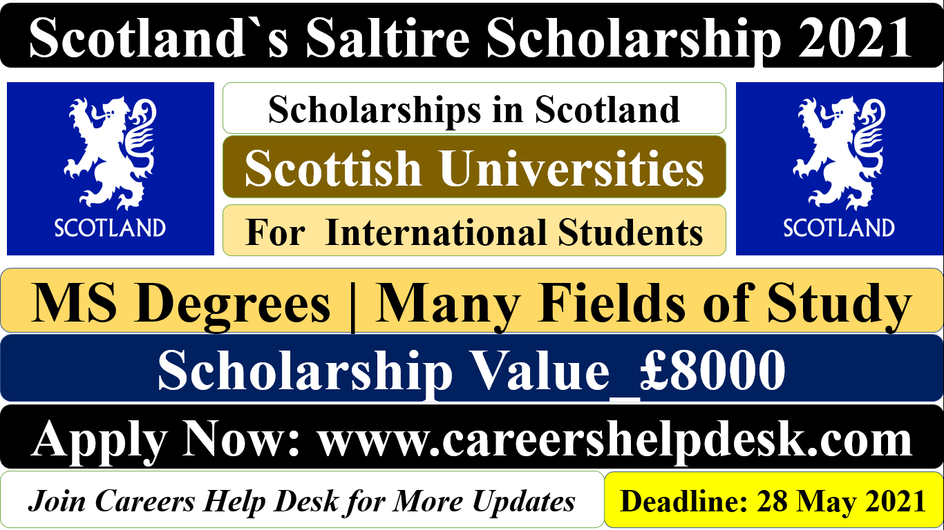 Saltire Scholarship in UK 2021