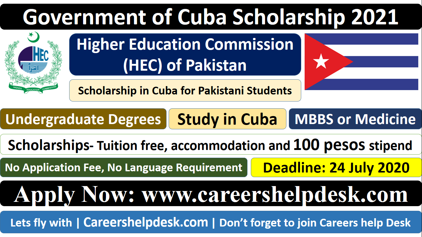 HEC-Government of Cuba Scholarship 2021 for Pakistani Students