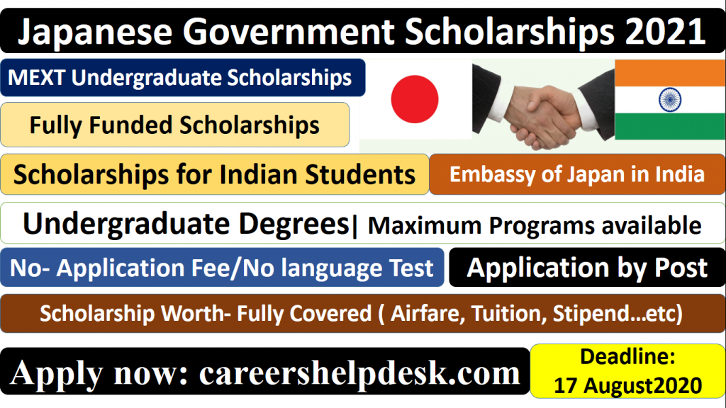 MEXT Japanese Government Scholarships Undergraduate 2021 ...