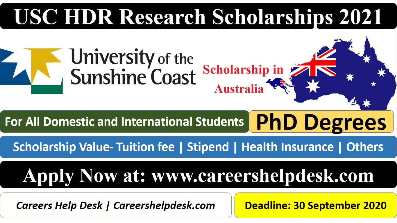 USC HDR Research Scholarships 2021