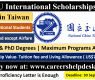 NCTU International Scholarships 2021 for International Students in Taiwan