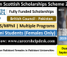 Pakistan Scottish Scholarships Scheme 2020-21 (Fully Funded)