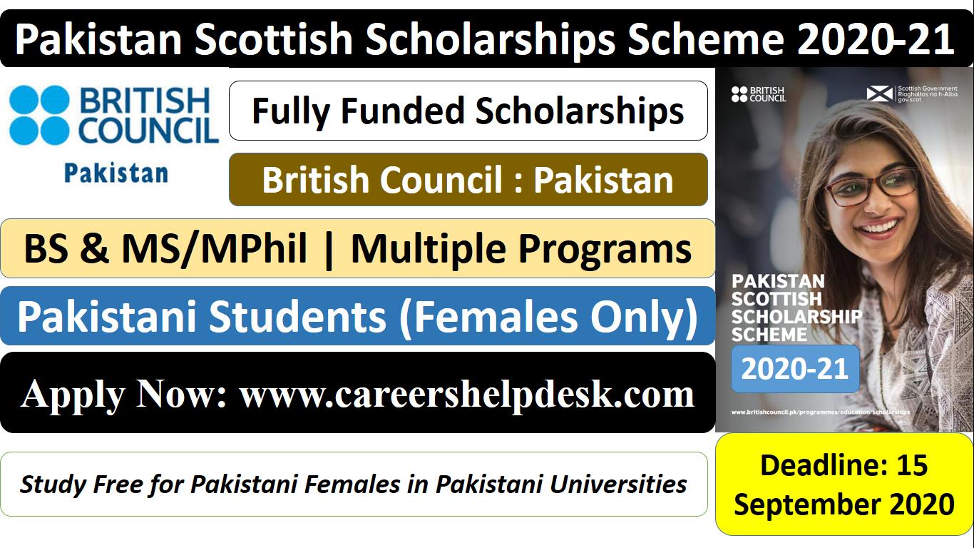 The Pakistan Scottish Scholarships Scheme 2021