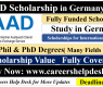 DAAD Scholarship in Germany 2022 for Developing Countries (Fully Funded)